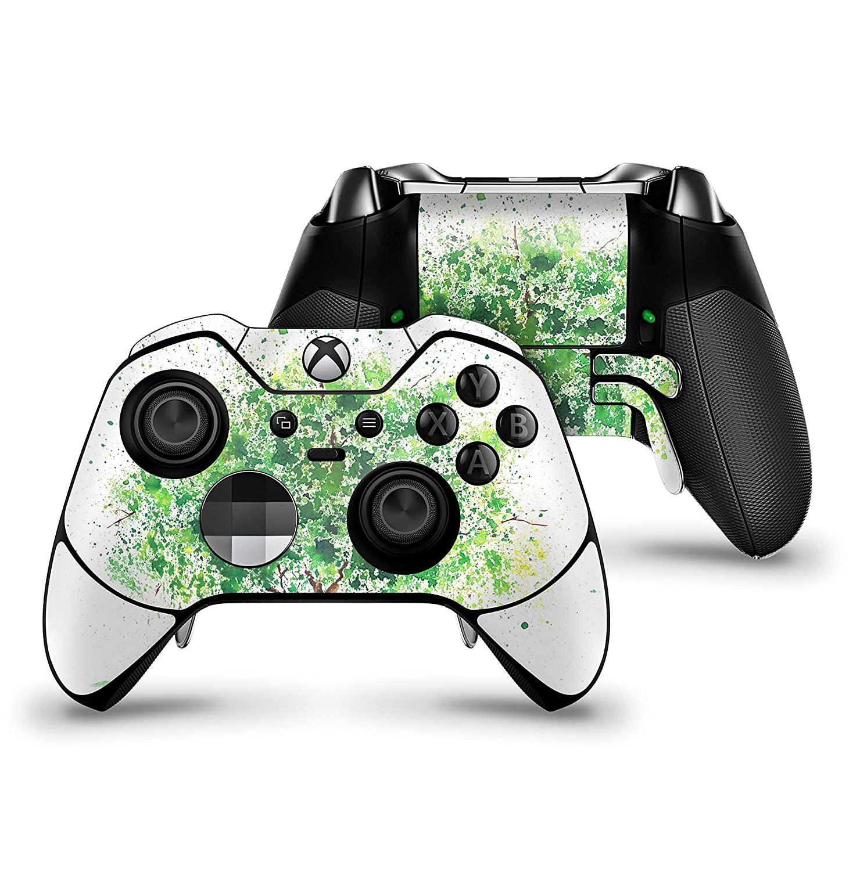 Splattered Watercolor Tree of Life - Protective Vinyl DesignSkinz Decal Sticker Skin-Kit for the Microsoft Xbox ONE Elite Controller