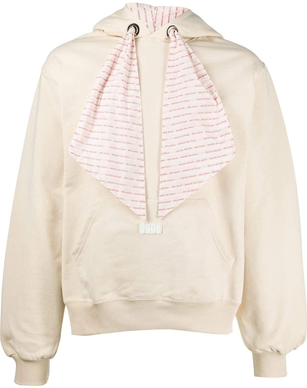 GCDS Luxury Fashion Man SS20M02005601 White Cotton Sweatshirt | Spring Summer 20