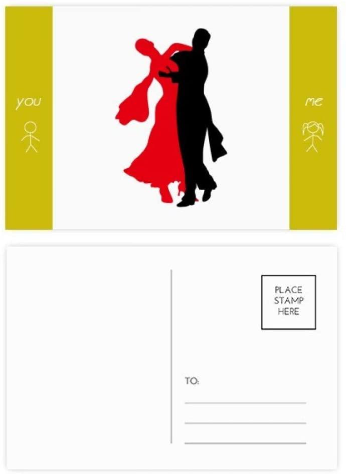 Social Dancing Dancer Duet Dance Friend Postcard Set Thanks Card Mailing Side 20pcs