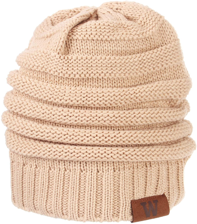 Zephyr Washington Huskies Womens Loft Oatmeal Knit Slouch Beanie Hat Cap