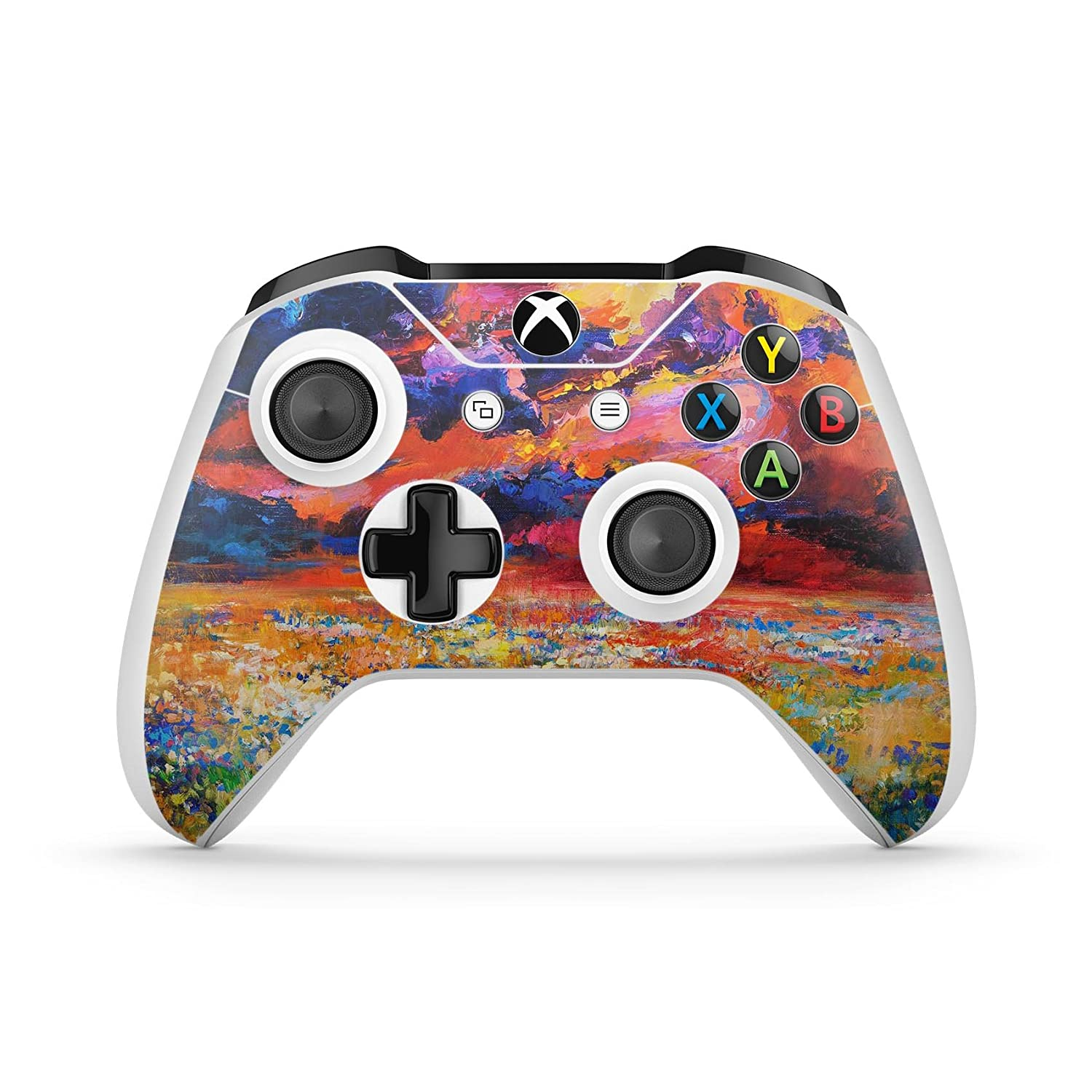 Oil Painted Meadow - Protective Vinyl DesignSkinz Decal Sticker Skin-Kit for the Microsoft Xbox ONE / ONE S Controller