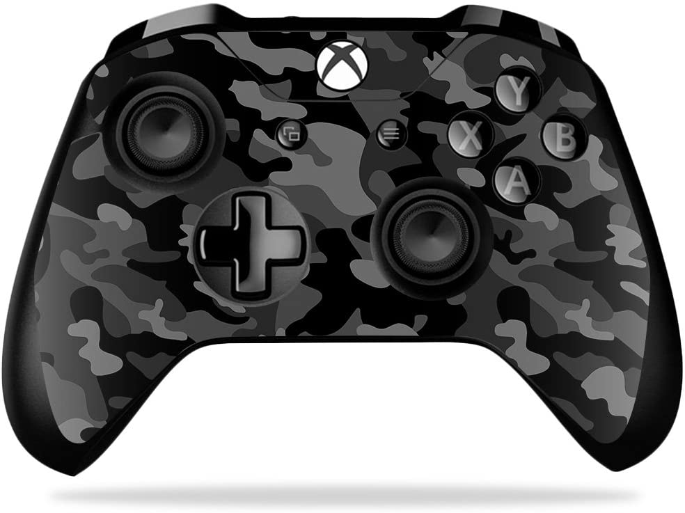 MightySkins Skin Compatible with Microsoft Xbox One X Controller - Black Camo | Protective, Durable, and Unique Vinyl Decal wrap Cover | Easy to Apply, Remove, and Change Styles | Made in The USA