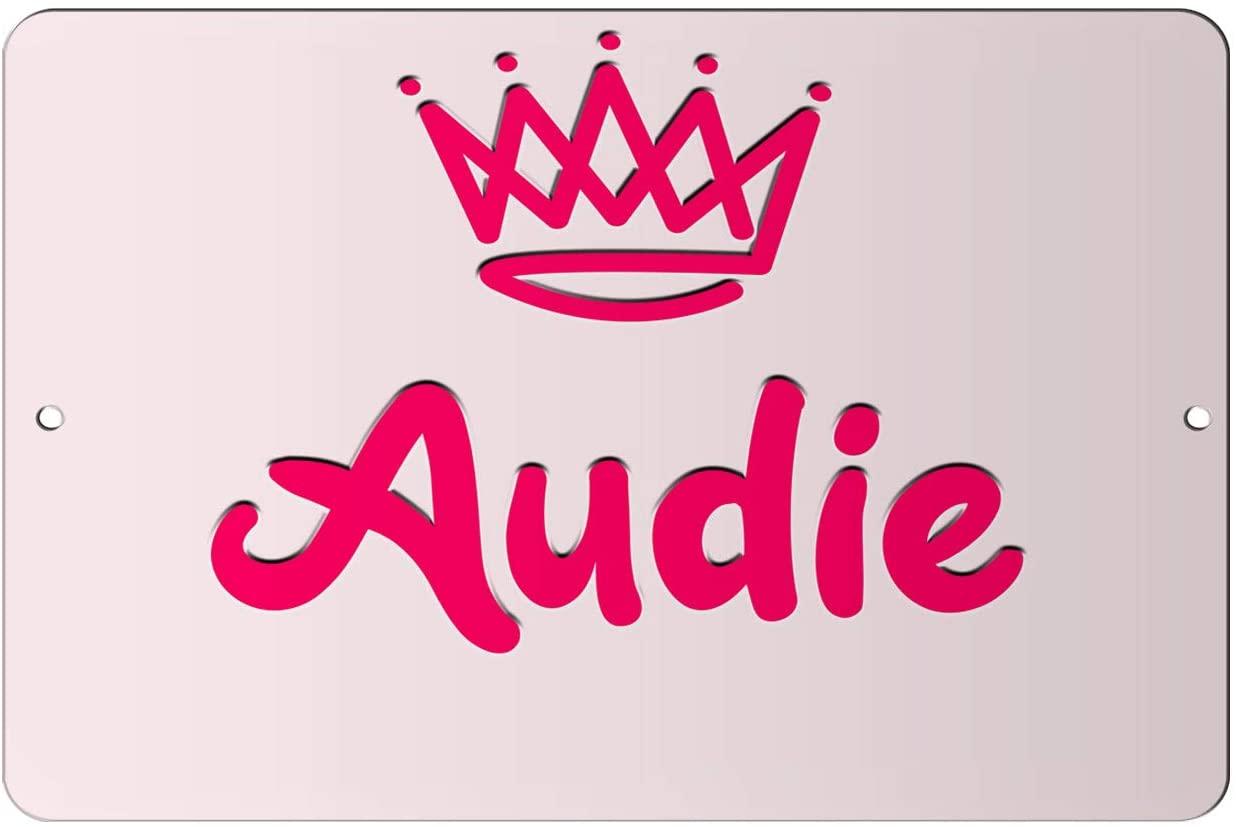 Makoroni - Audie Girl Female Name 12x18 inc Aluminum Decorative Wall Street Sign