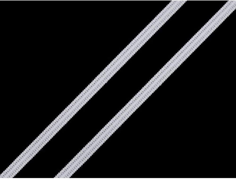 250m White Flat Elastic Width 4mm, Lingerie and Buttonhole, Knit, Haberdashery