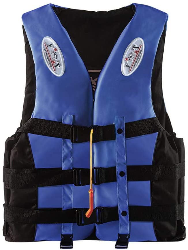 N/A/ Life Jacket, Life Vest for Adult, S-XXXL Size, Aid Jacket Kayak Ski Buoyancy Fishing Boat Watersport for Women and Men