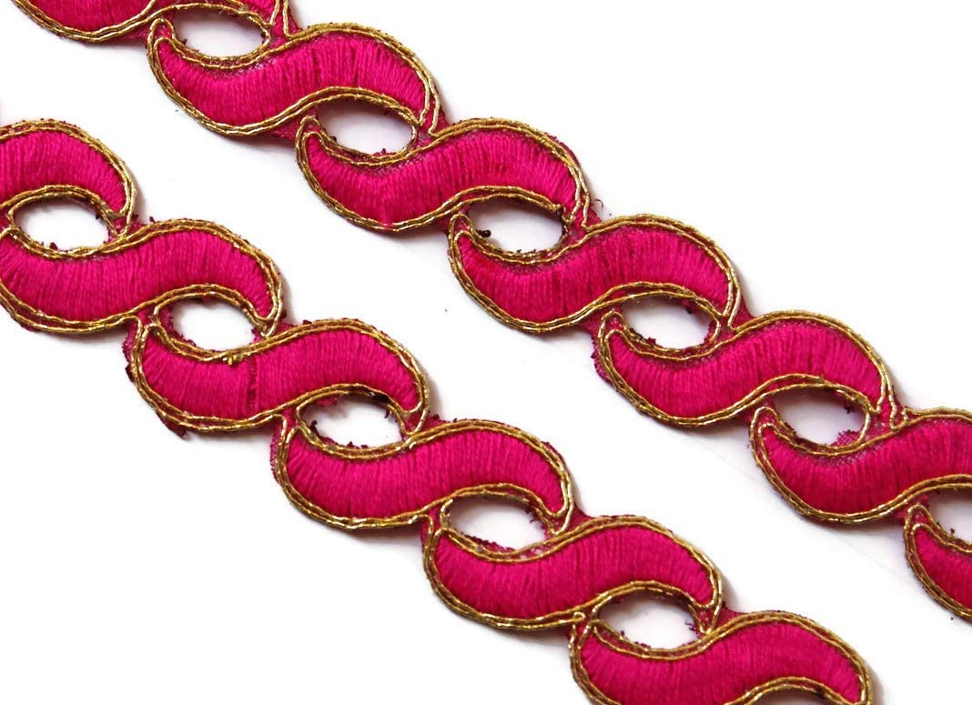 Idukaancrafts Pink Decorative Trim 06 Yd 0.9
