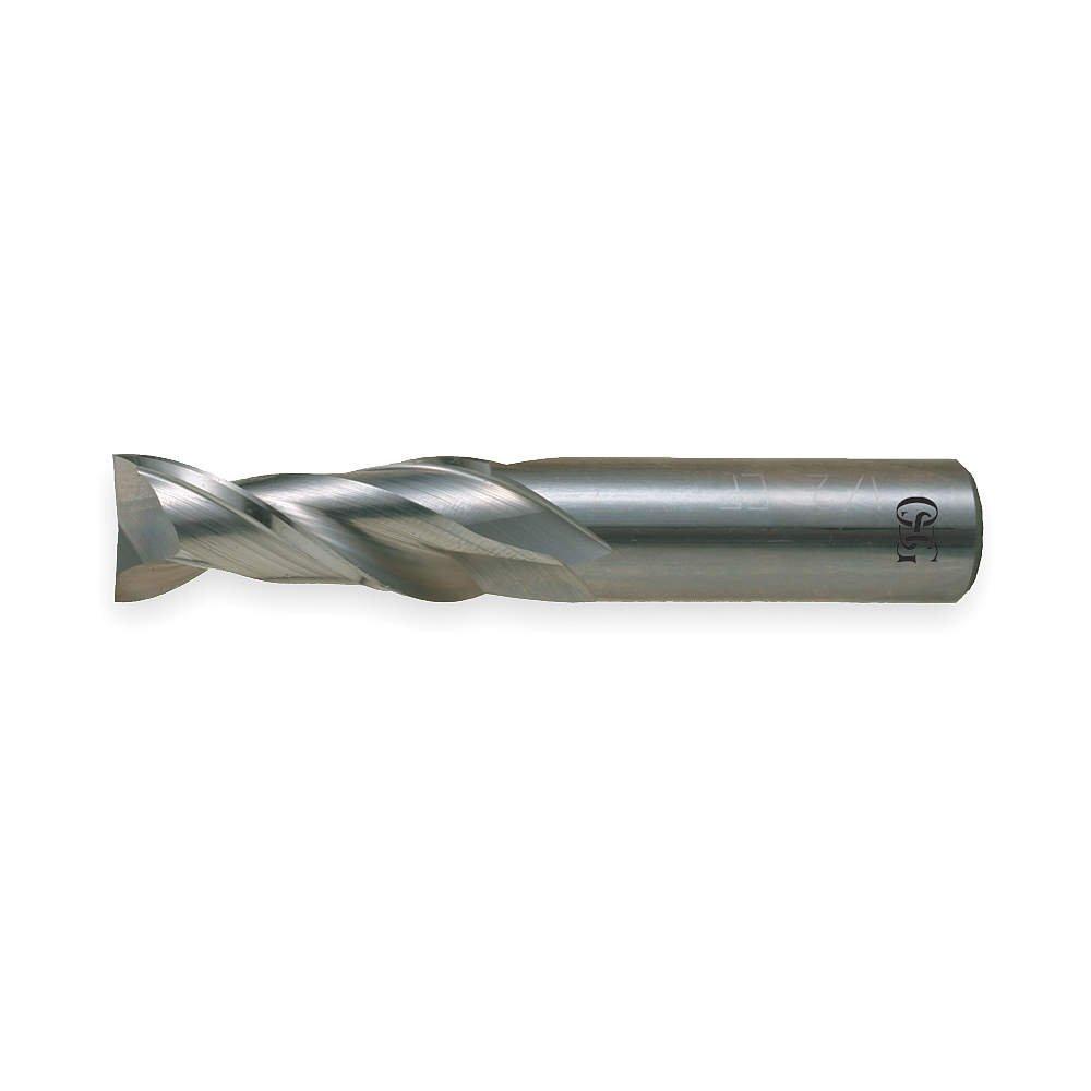 End Mill, Carbide, 5/16, 2 FL, SGL Sq End, CC