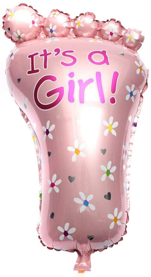 DishyKooker Aluminum Foil Balloon Big Foot Boy Girl Baby Shower Birthday Party Decoration 45x79cm Girl Product Items
