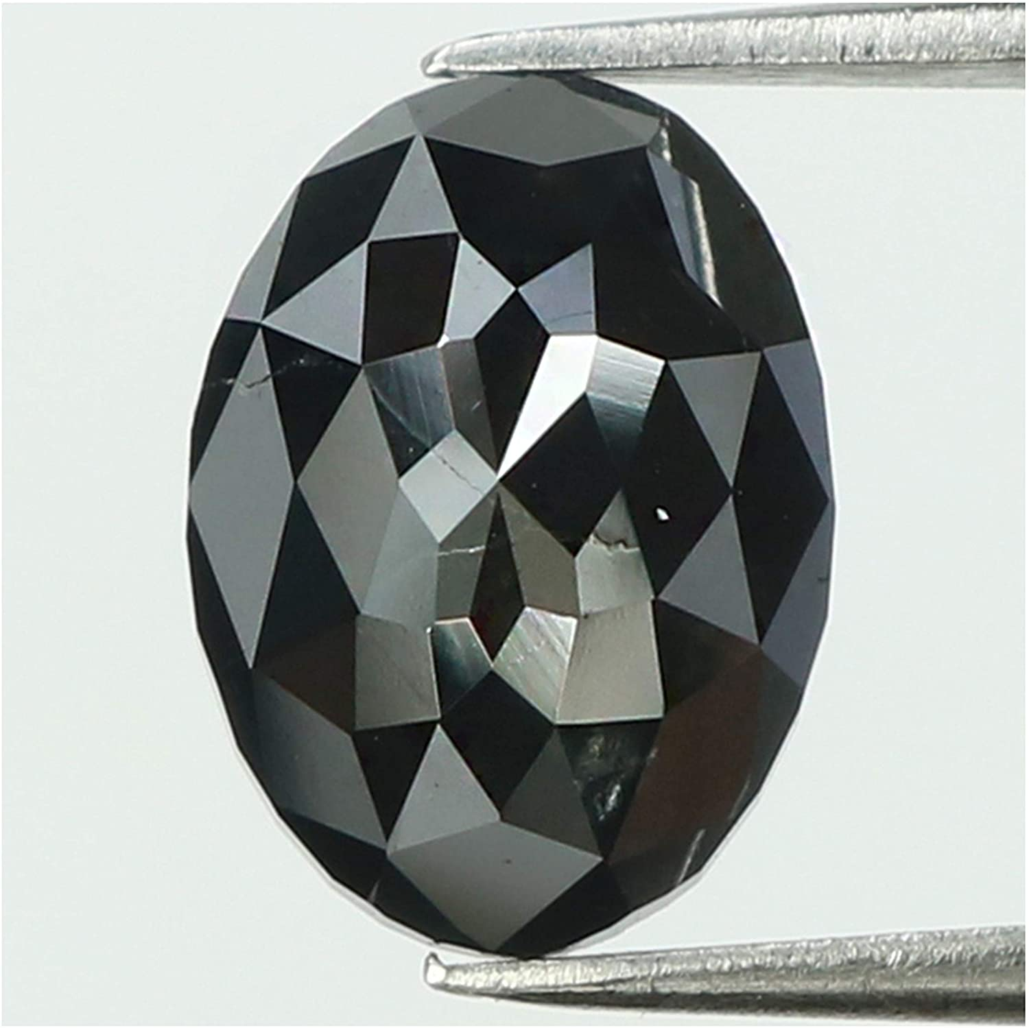 1.72 Ct Natural Loose Diamond Oval Black Color I3 Clarity 9.40 MM KDL8168