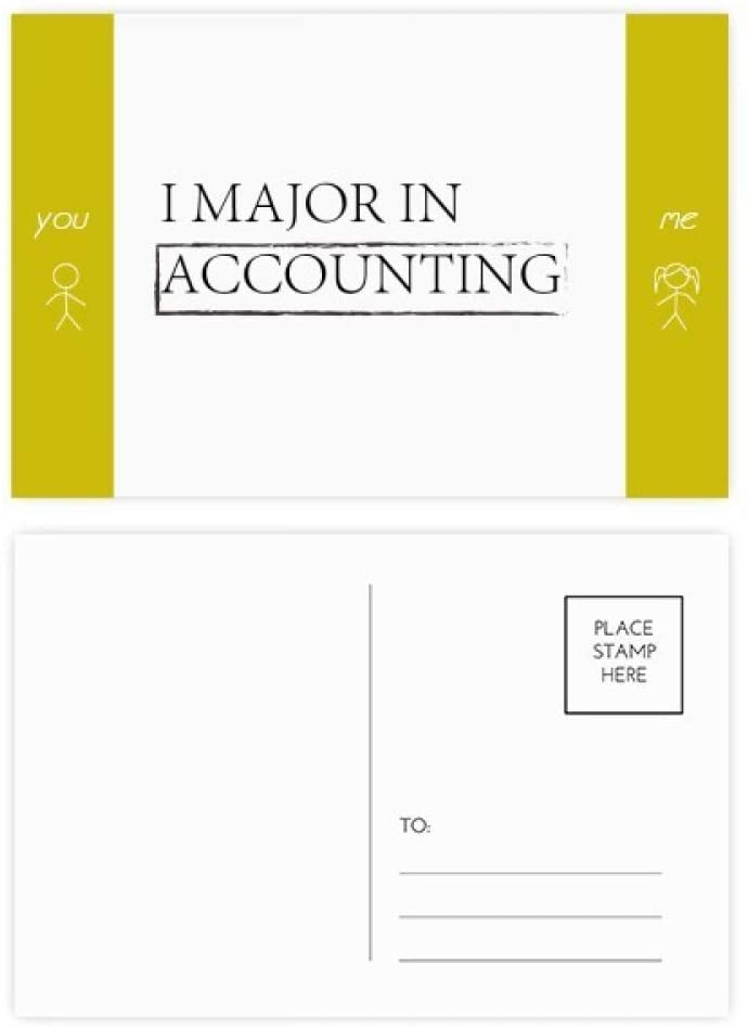 Quote I Major In Accounting Friend Postcard Set Thanks Card Mailing Side 20pcs