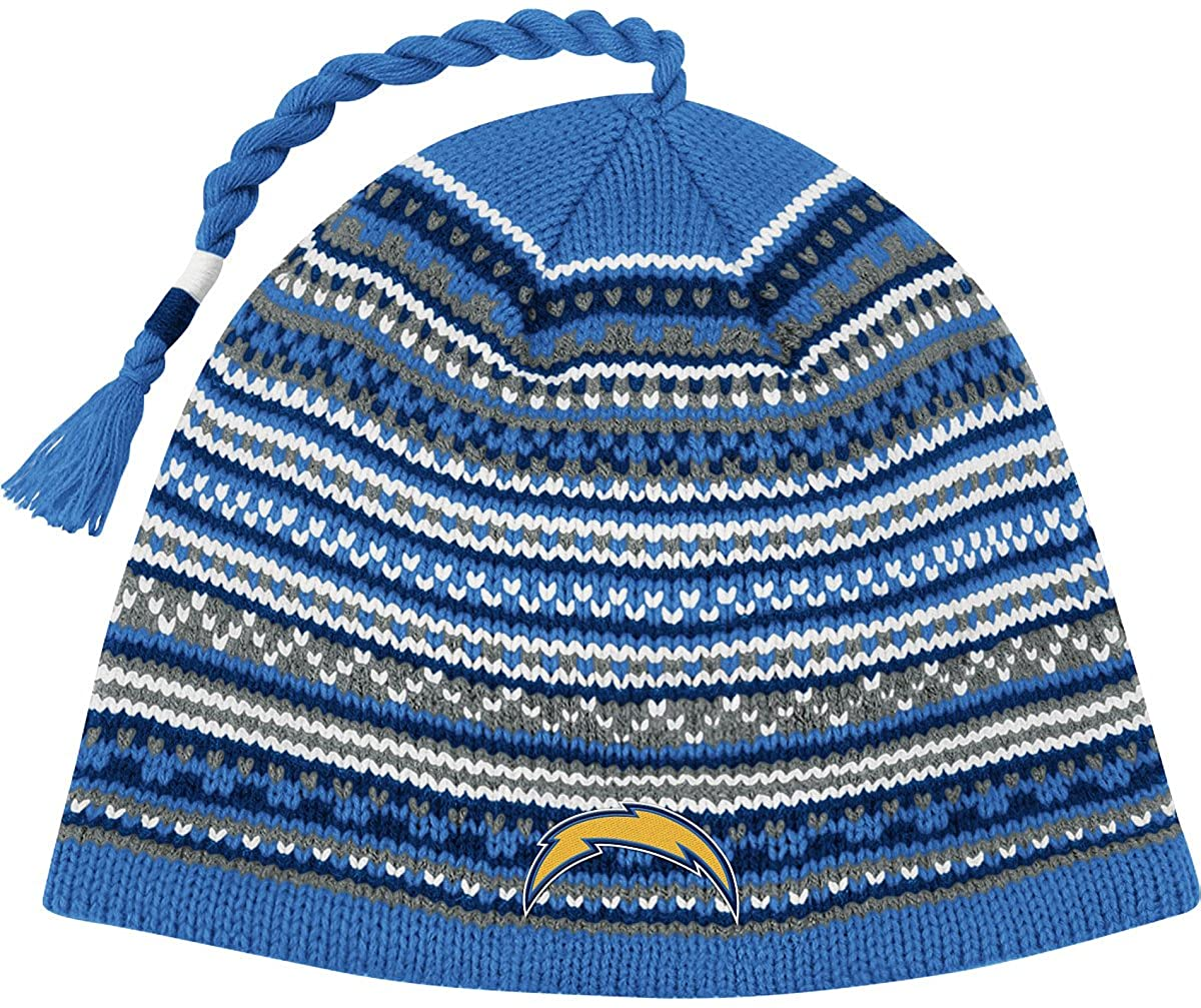 Reebok San Diego Chargers Tassle Knit Hat One Size Fits All