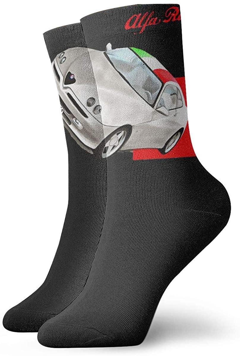 Unisex Alfa Romeo Athletic Stockings Crew Socks Sports Outdoor For Men Women
