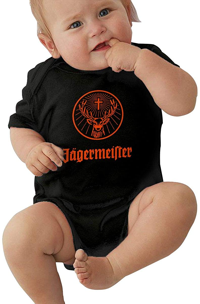 3-24 Months Baby Short-Sleeved Climbing Suit Jagermeister Fashion Classic Style Black