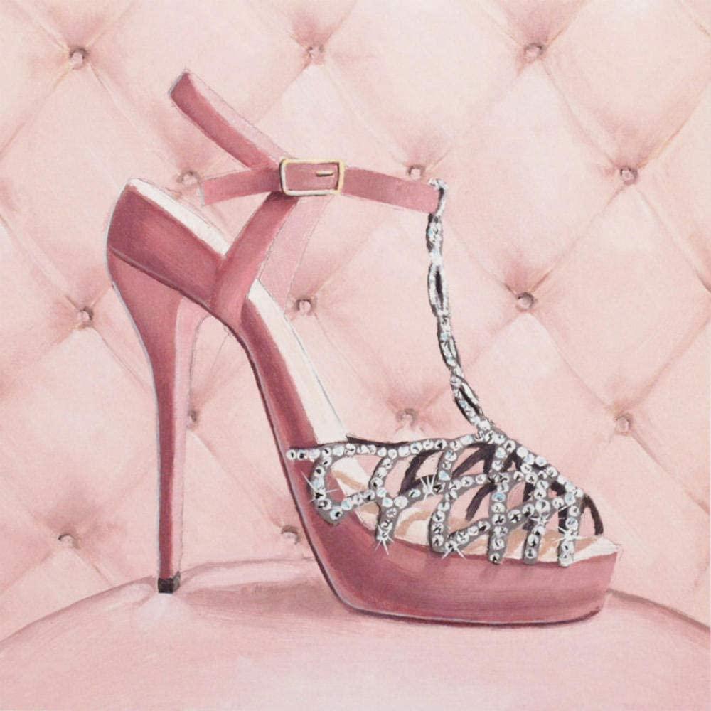 5D DIY Round Rhinestone Creative Home Decoration Diamond Painting kit high Heel Shoes Cross Stitch Pattern Diamond Embroidery Handmade