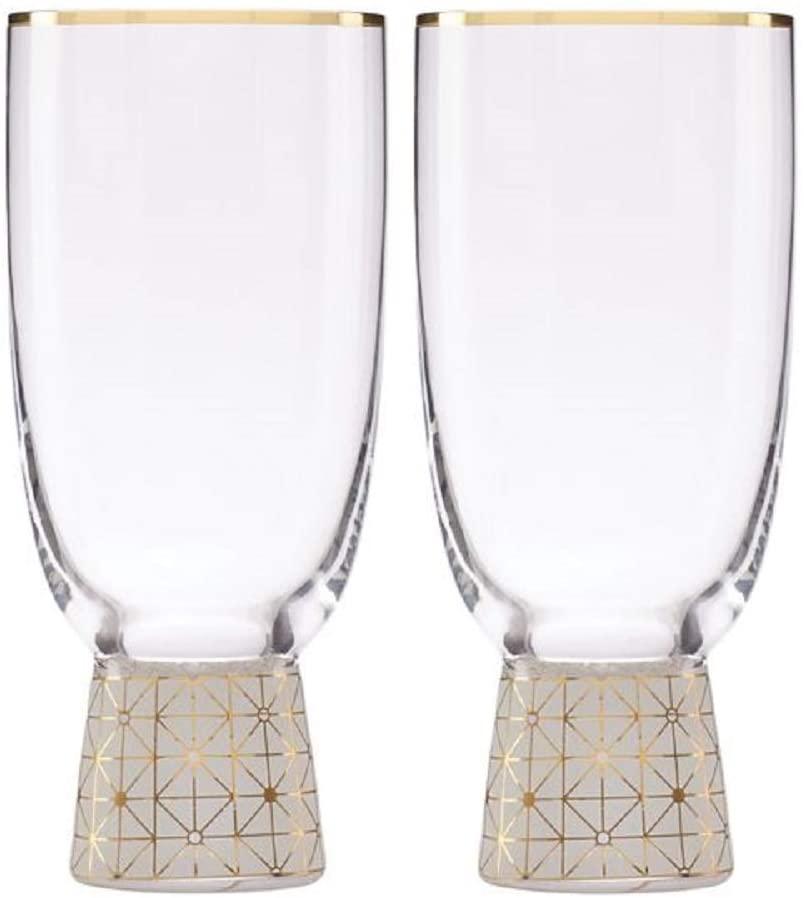 Lenox Trianna Frost 2-piece All-Purpose Glass Set, 1.95 LB, Clear