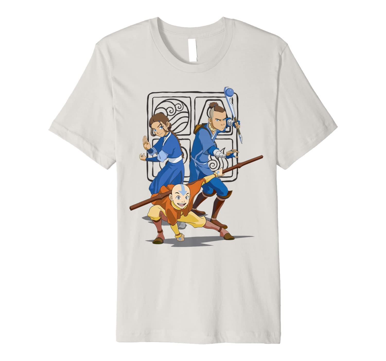 Nickelodeon Avatar The Last Airbender Action Group Shot Premium T-Shirt