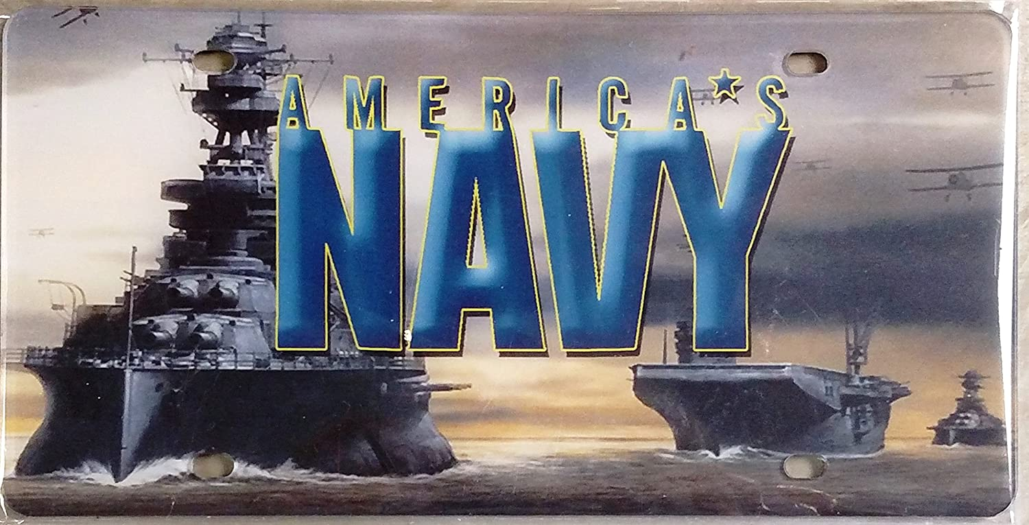 Navy PRINTED SD23529 Deluxe Laser Acrylic License Plate Tag U.S. United States Military