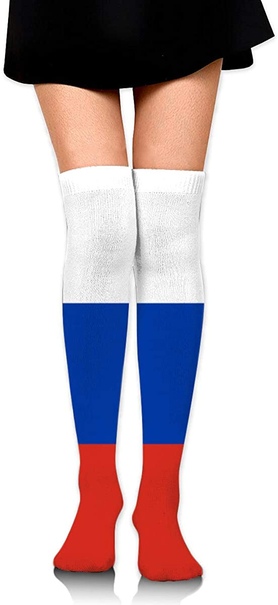 Knee High Socks Flag Of Russia Womens Athletic Over Thigh Long Stockings