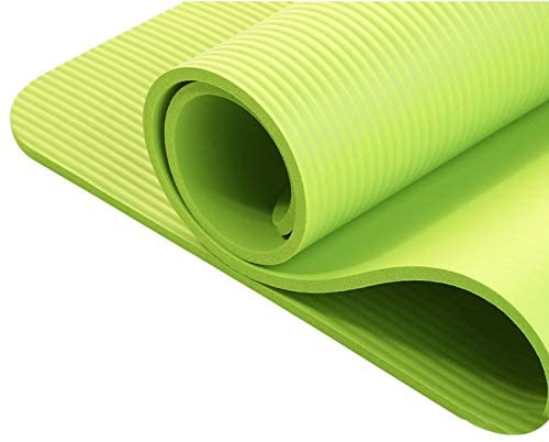 HDz Store 6MM Thick Yoga Mat Blue, Purple,Pink,Green for Exercise, Yoga, and Pilates