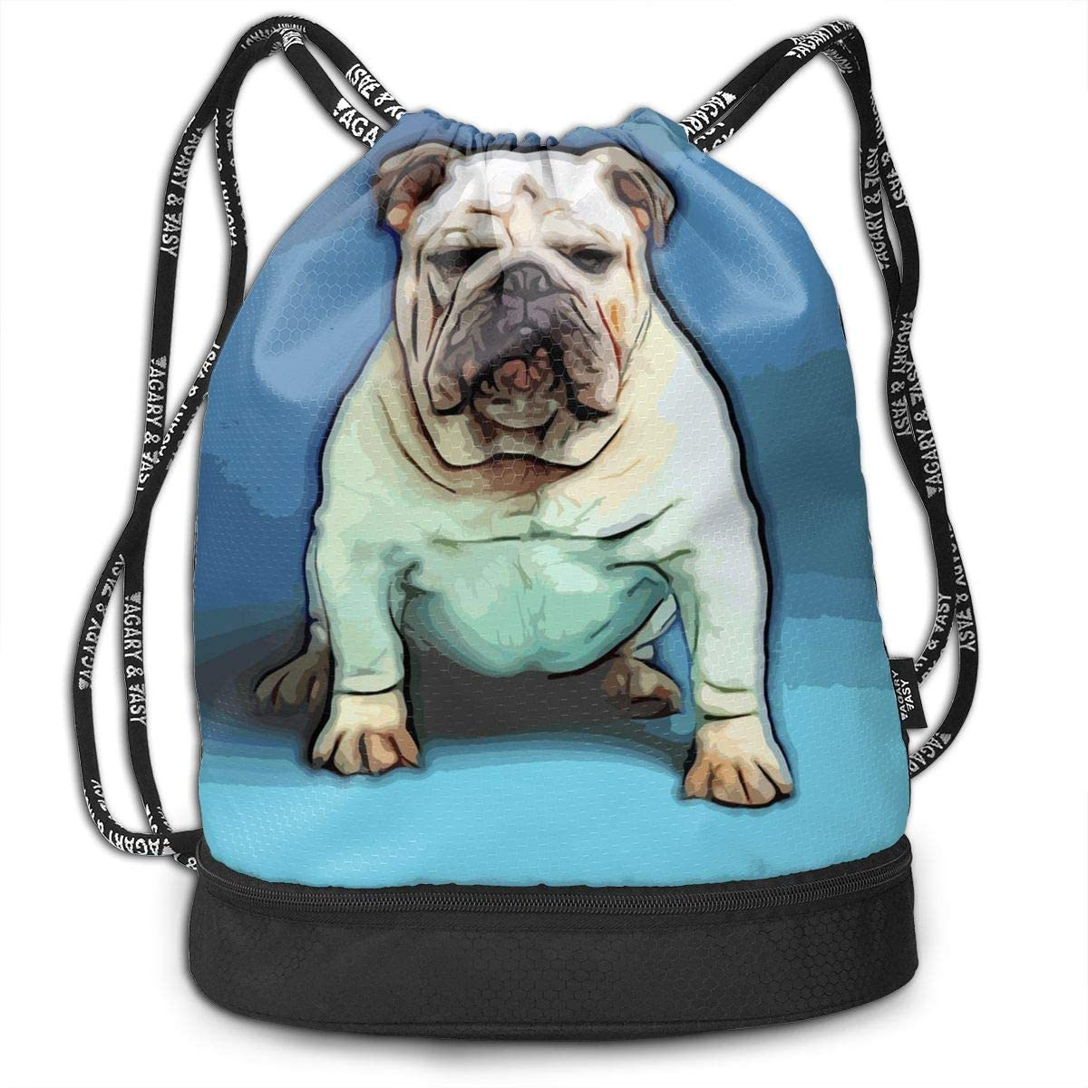 Bundle Backpacks Bulldog Puppy Art Gym Sack Drawstring Bags Casual Daypack Yoga Bag School Training Pouch