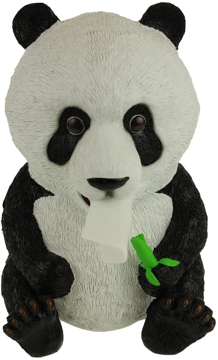 Rotary Hero - Panda Tissue Box Holder for Bathroom, Bedroom Dressers, Night Stands, Desks and Tables