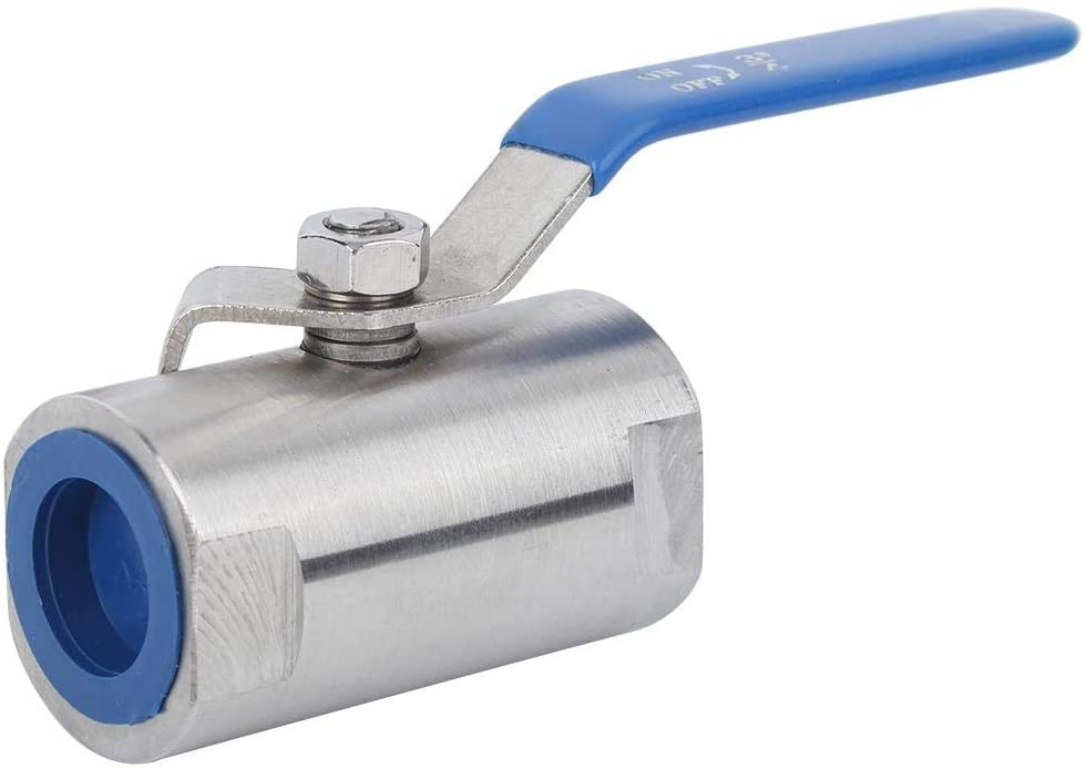 DN20 (G3/4in) Threaded Ball Valve, Durable 304 Stainless Steel 2-Way Flowing Straight-through Manual Water Floating Ball Valve