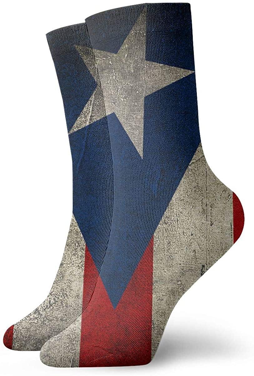 Puerto Rico Flag Short Crew Socks Dress Socks Athletic Socks