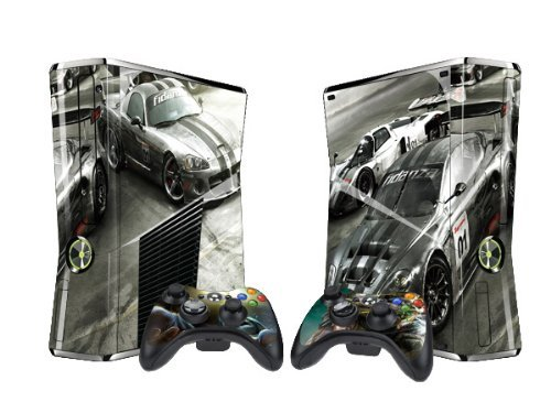 RAC Protector Skin Decal Sticker for Xbox 360 Slim (1 piece for the game console & 2 pieces for 2 controllers)