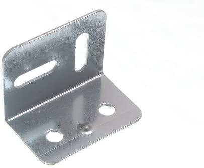 100 X 38Mm Square Stretcher Plate Angle Bracket 2 Holes 2 Slots