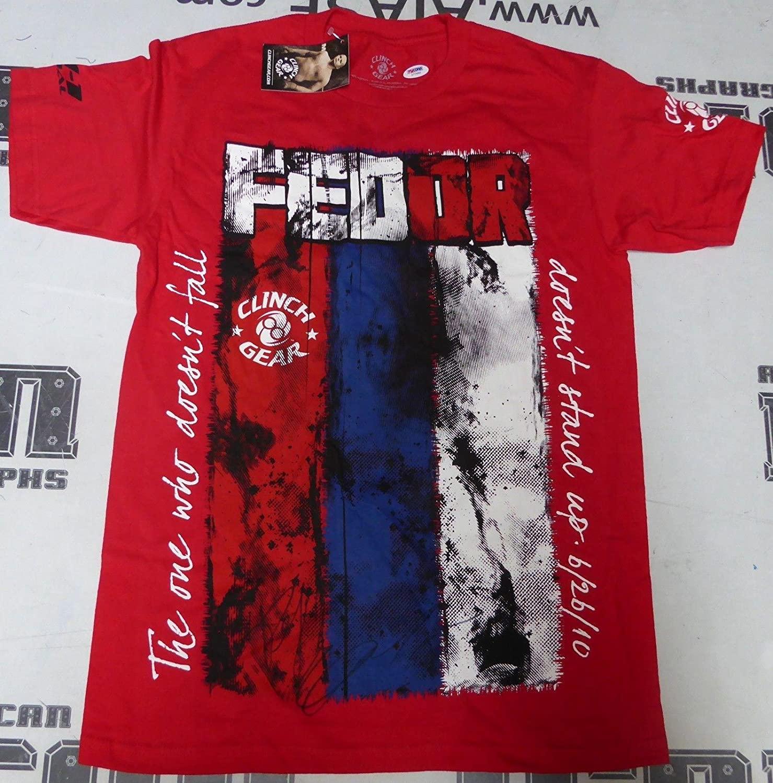 Fedor Emelianenko Signed Walkout Shirt PSA/DNA COA StrikeForce Pride Rizin M-1 S - Autographed UFC Miscellaneous Products