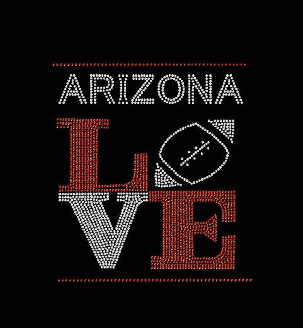 Arizona Football Love Rhinestone Iron on Transfer