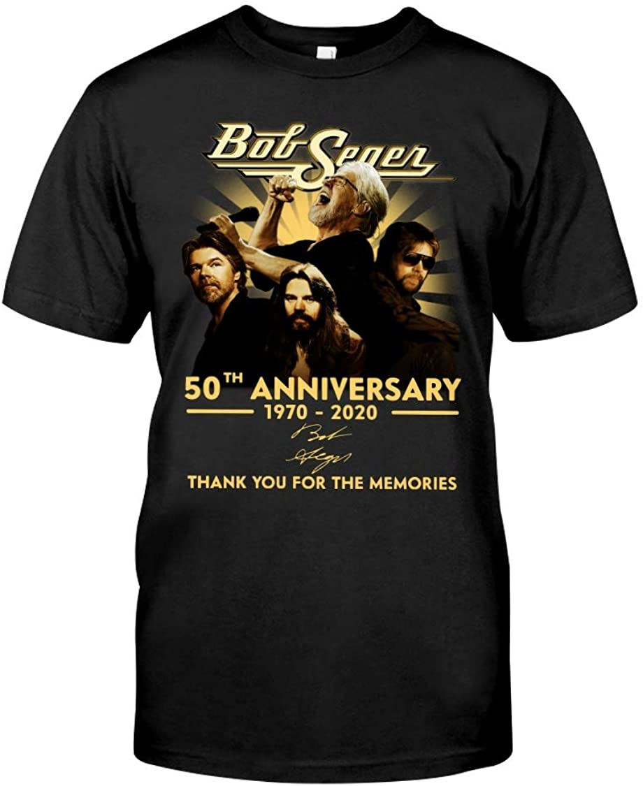 Funny Bob Seger 50th Anniversary Sign T-Shirt Gift for Bog Seger Lovers