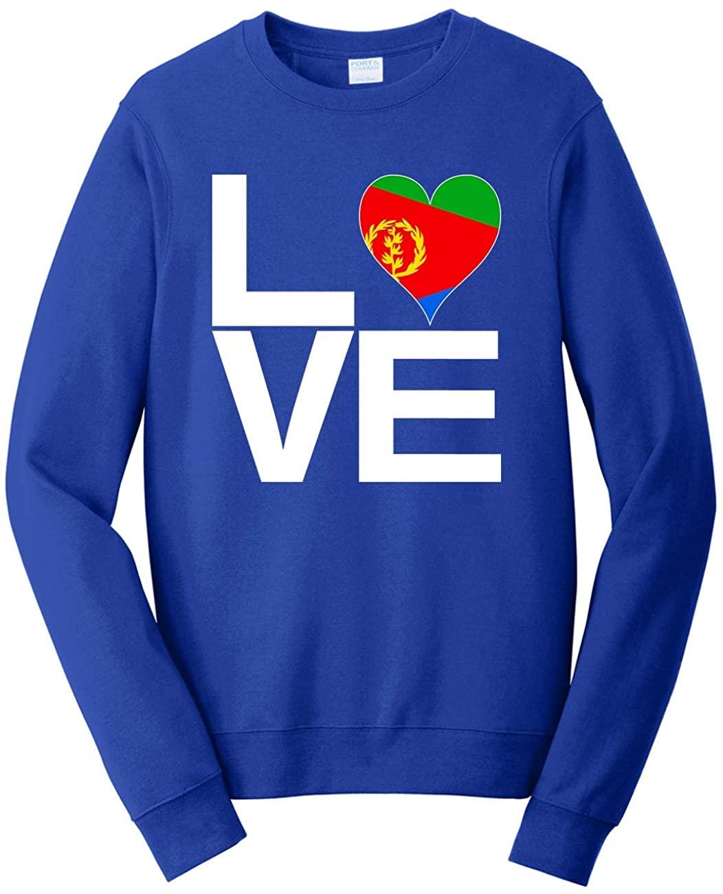 Tenacitee Men's Love Block Eritrea Heart Sweatshirt