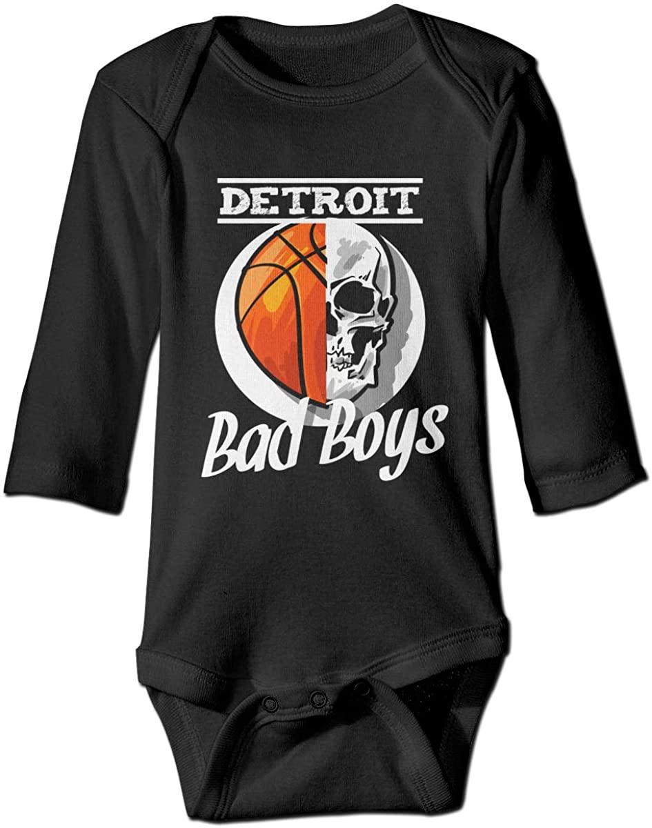 Detroit Bad Boys Bodysuit Baby Jersey Black