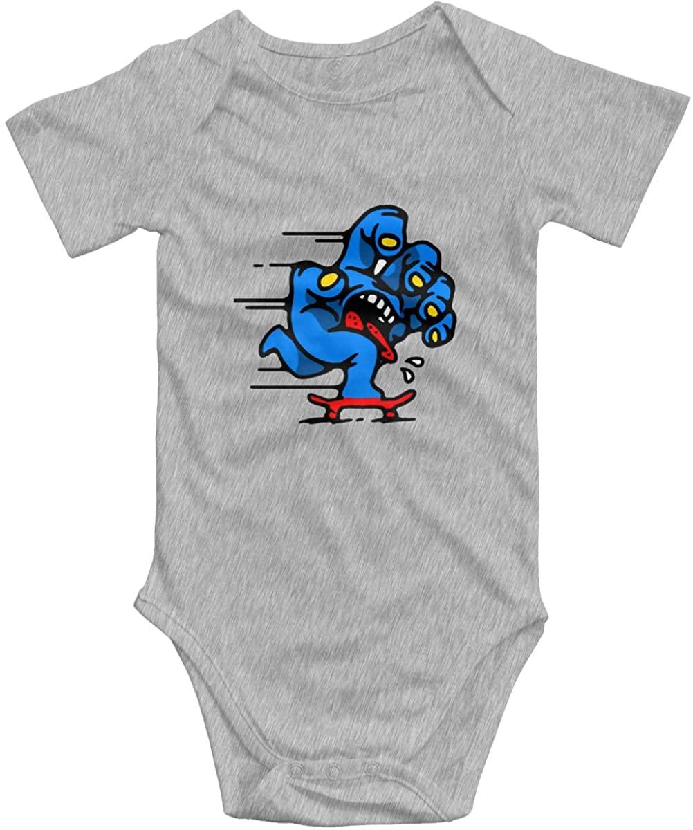 Santa Cruz Screaming Hand Baby Bodysuit Blink Climbing Clothes Gray 2t