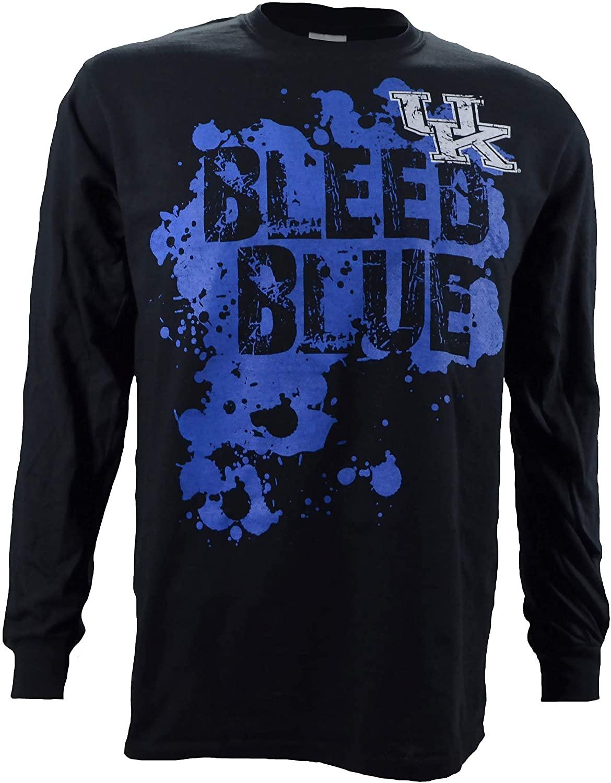 University of Kentucky Bleed Blue on a Black Long Sleeve Shirt