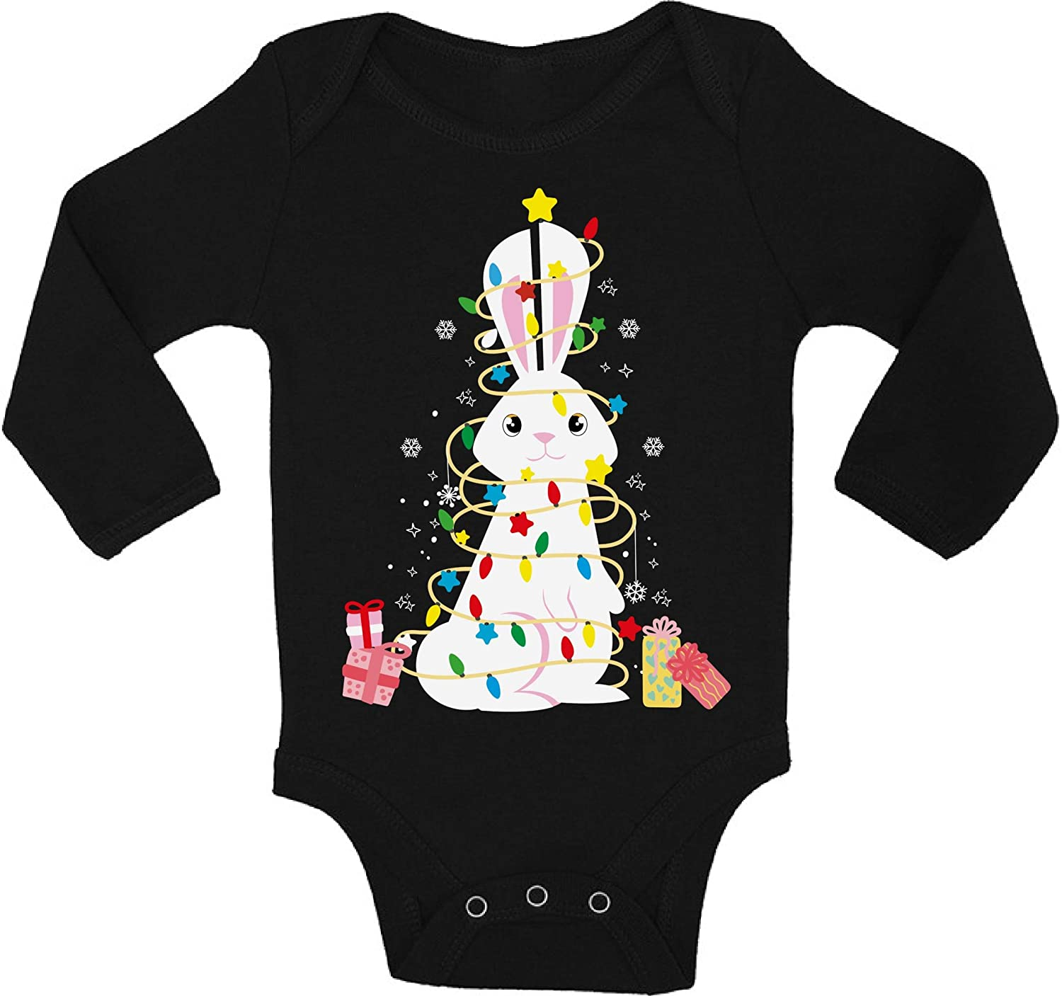 Awkward Styles Ugly Xmas Baby Outfit Bodysuit Rabbit Christmas Tree Baby Romper