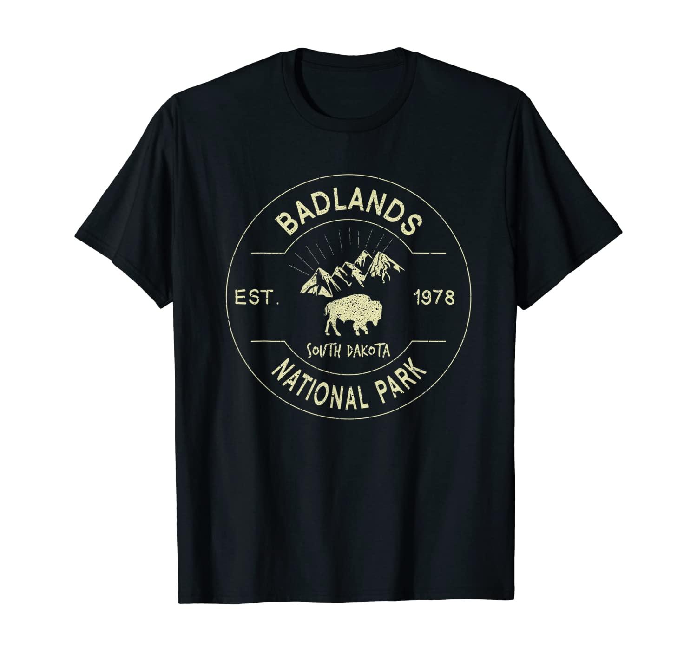 Badlands National Park Retro Vintage South Dakota Gift T-Shirt