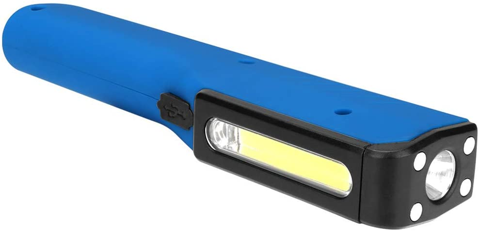 COB+LED Working Lamp,Aluminum Alloy Body,Press Switch,Magnet,USB Charge,3 Modes-Dimming,Waterproof,Powerful Light.