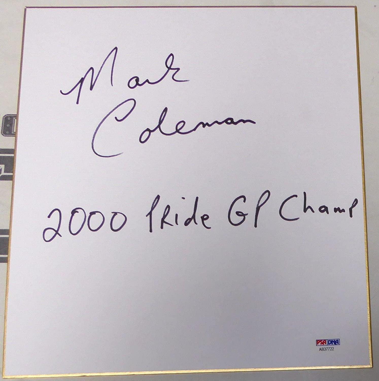 Mark Coleman Signed Shikishi Japanese Art Board PSA/DNA COA UFC Pride Autograph - Autographed UFC Miscellaneous Products