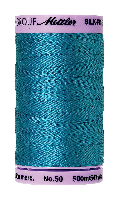 Mettler Silk-Finish Solid Cotton Thread, 547 yd/500m, Caribbean Blue
