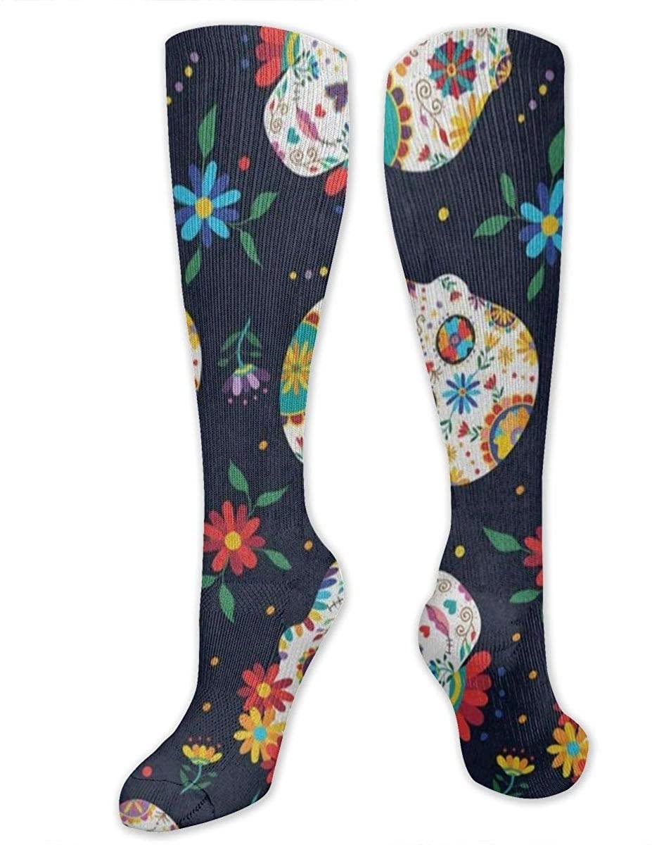 Unisex Knee Socks Wavy Orange, Black, White Long High Knee Stocking Soft & Breathable For Men And Women