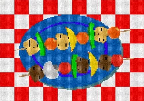 pepita Barbecue Kabobs Needlepoint Kit
