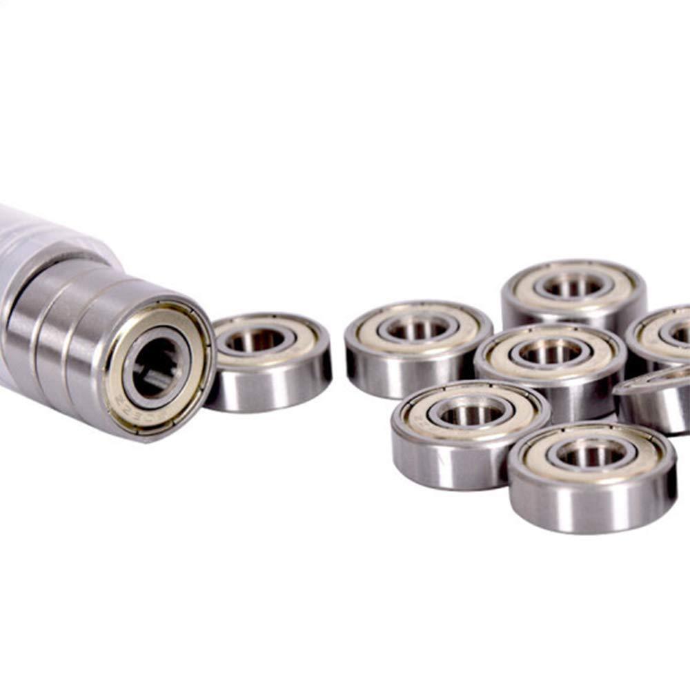 608 ZZ Skateboard Bearings 8x22x7mm - Fit for Skateboard Bearings, 3D Printer RepRap Wheel, Roller Skates, Inline Skates [10 Pcs]