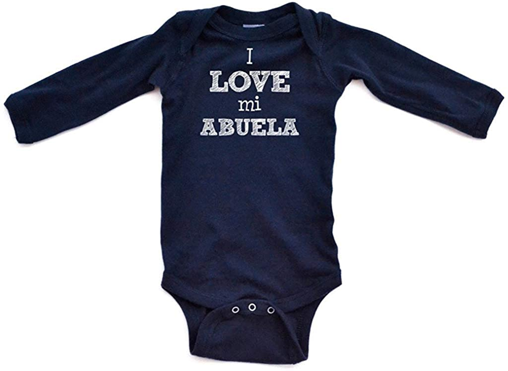 I Love Mi Abuela Baby Bodysuit Long Sleeve Jumpsuit Rompers for Boys and Girls