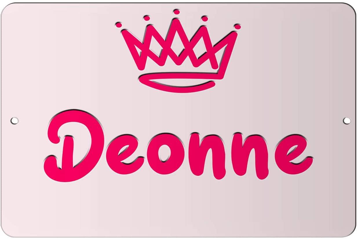 Makoroni - Deonne Girl Female Name 12x18 inc Aluminum Decorative Wall Street Sign