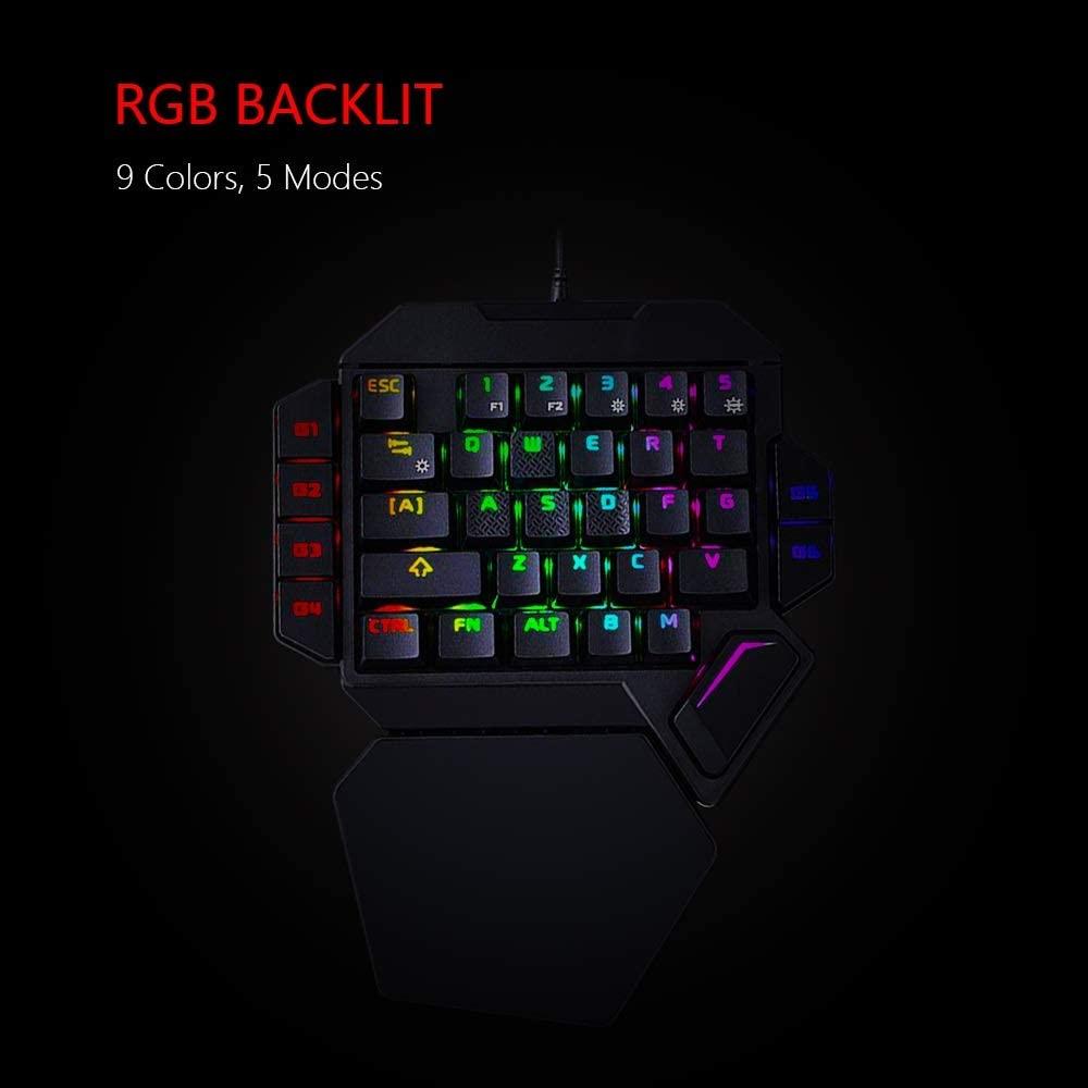 Gaming Keyboard Mechanical One-Handed Mechanical Gaming Keyboard RGB Backlit Portable Mini Gaming Keypad Game Controller for PC PS4 Xbox Gamer Keyboard Gaming (Color : K50)