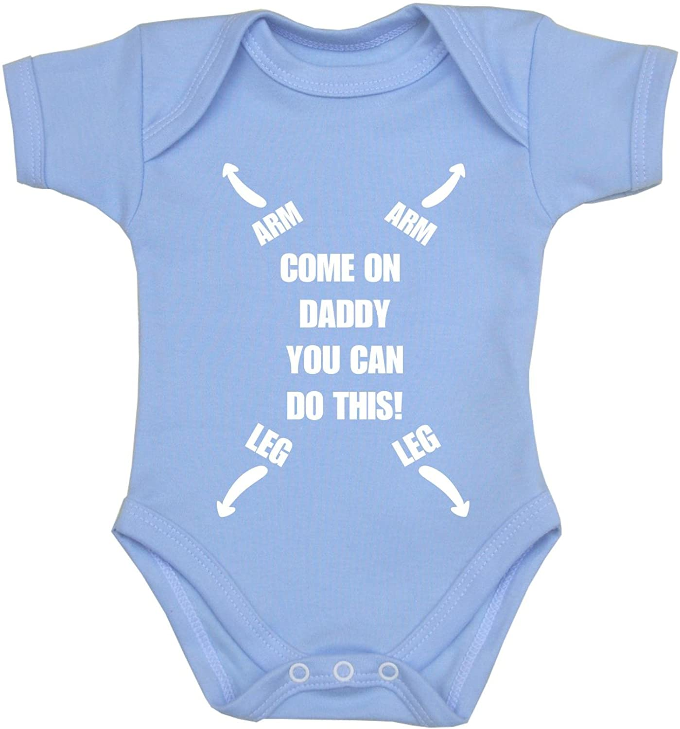 BabyPrem Baby Bodysuit Come on Daddy You Can Do This Cotton Newborn - 6 Months