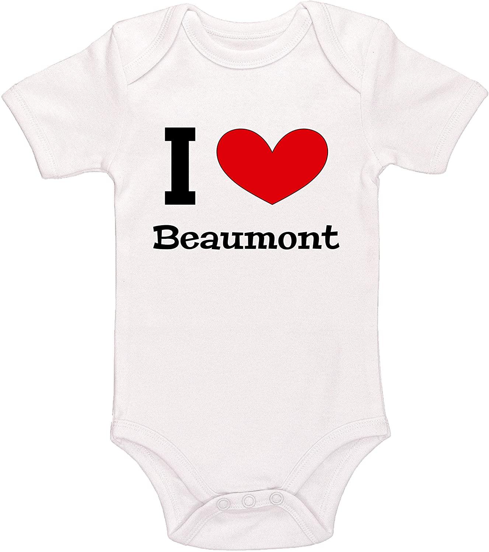 Kinacle I Love Beaumont Baby Bodysuit