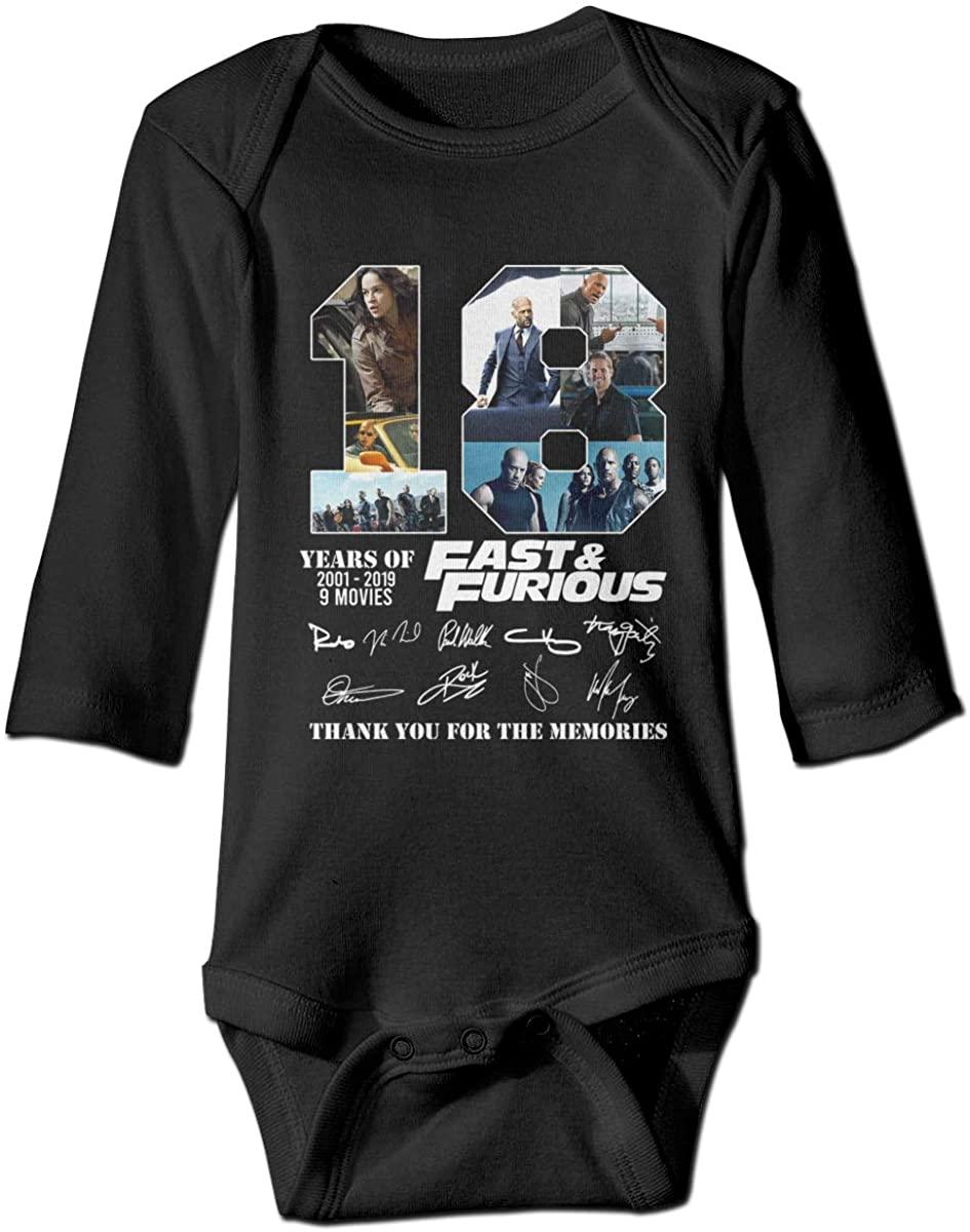 HUABDWA Years of Fast & Furious Bodysuit Baby Jersey